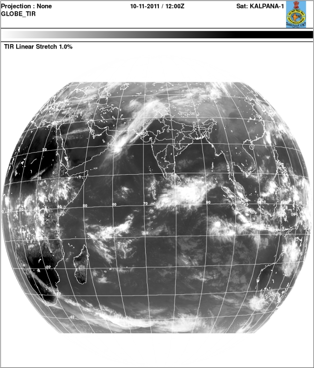 India: Weather Satellite Images, Western Disturbance approaching